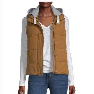 Arizona Jean Company   Brown & Gray Hooded Vest